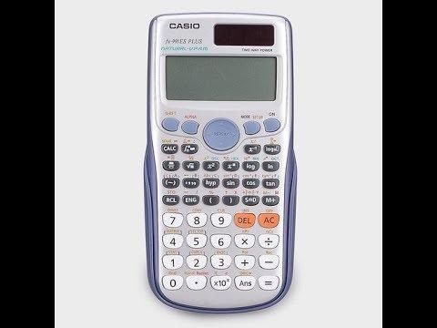 الالة الحاسبة Casio 991es Youtube