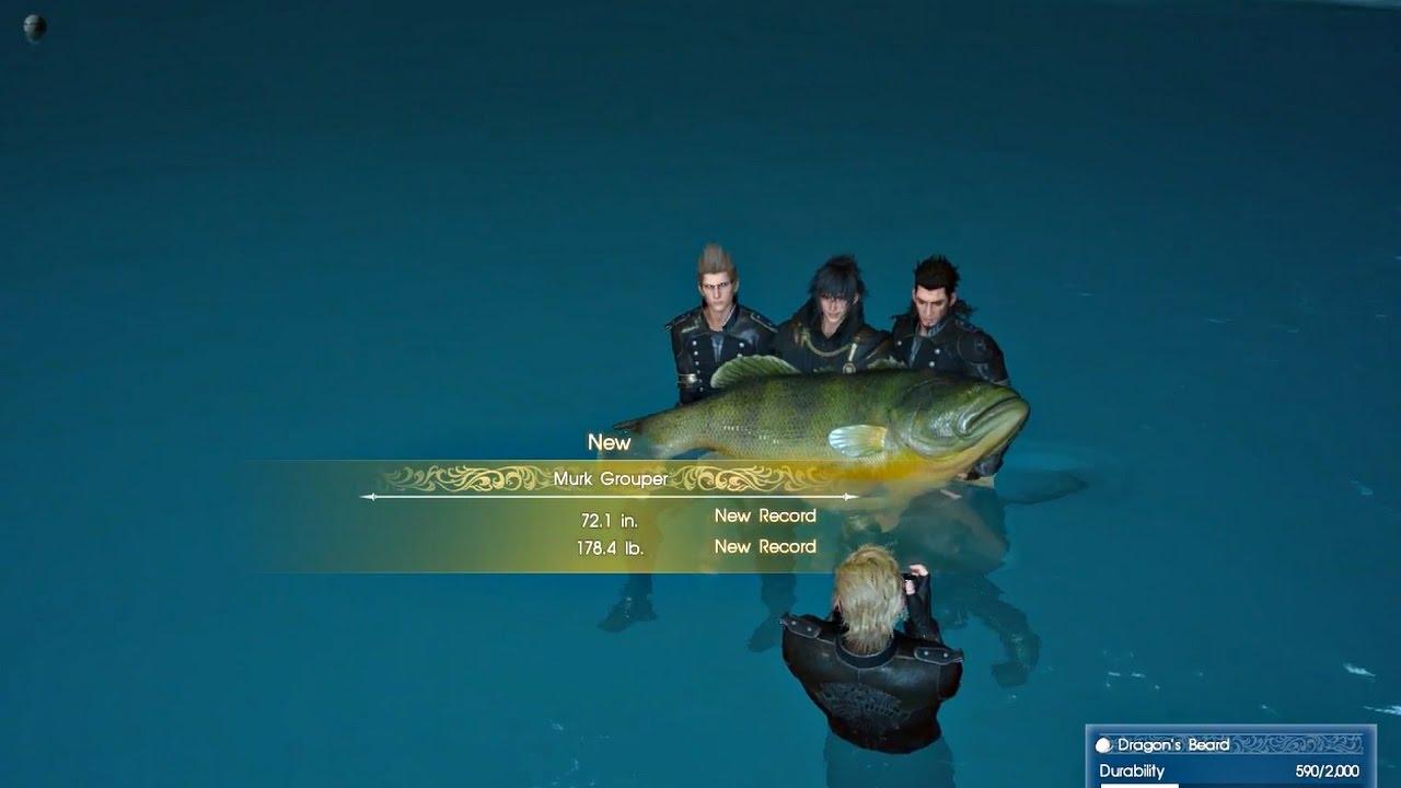 Final fantasy xv the biggest fish best fishing rod l for Ffxv fishing rods