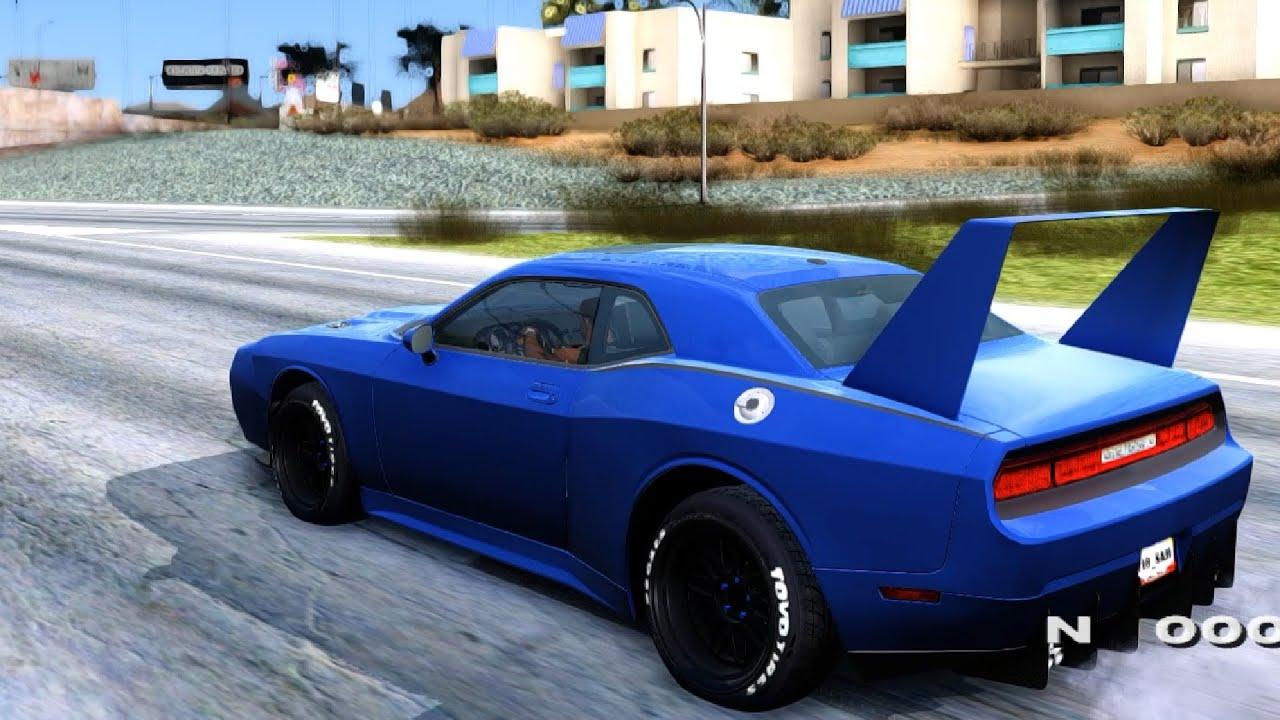 Dodge Challenger Conversion >> Dodge Challenger Daytona - GTA San Andreas - YouTube
