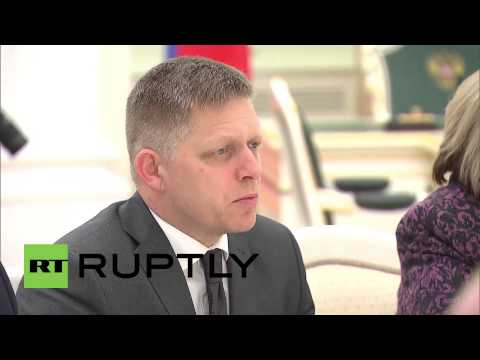 Russia: Putin holds trade talks with Slovak PM Fico