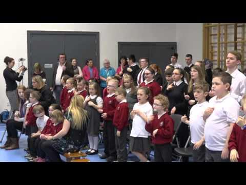 Jordanstown School perform 'World In Union'
