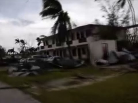 Raw: Saipan Residents Recover After Typhoon