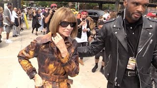 Carine Roitfeld, Anna Wintour and more arriving for the Coach 1941 Fashion Show in NYC
