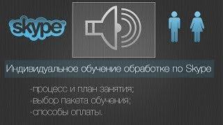 Индивидуальное обучение обработке по Skype.