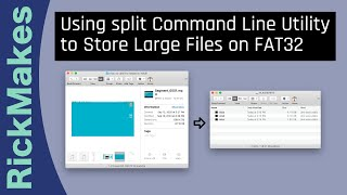 Using split Command Line Utility to Store Large Files on FAT32