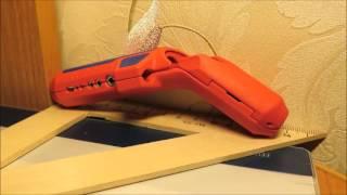 KNIPEX ErgoStrip KN-169501SB - универсальный инструмент для удаления оболочки кабеля(в руки попал такой инструмент первый раз и предыдущей моделью не пользовался так, что навыков работы с ним,..., 2016-09-18T18:02:10.000Z)