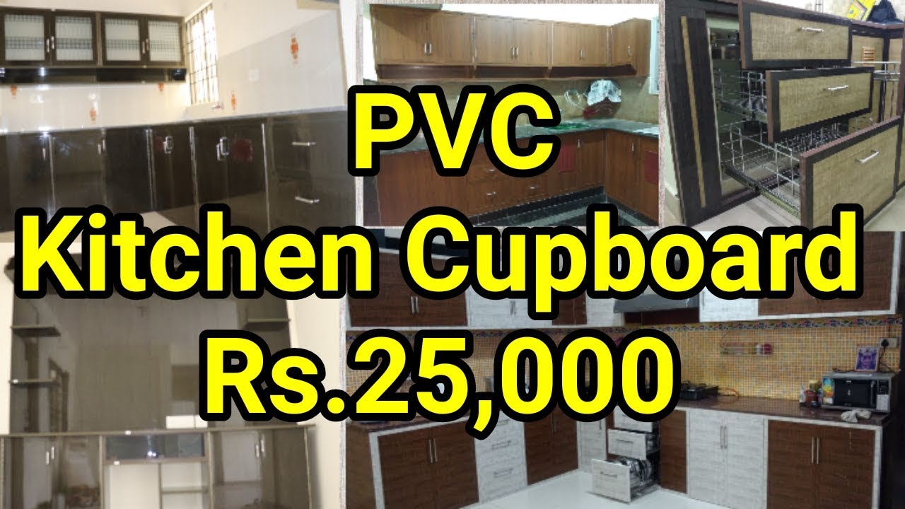 Low Cost Kitchen Cupboards Full Home Pvc Cupboard Kitchen Interior Youtube