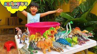 Skyheart Dino Bath! Dinosaur toys for kids jurassic world trex megasaur