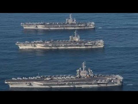 Armada of US naval firepower gathers off Korean peninsula