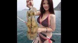 爆笑 - 面白 - バッタンバン州でネット釣り、カンボジアネット釣り、手で魚を捕まえます