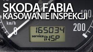 Kasowanie inspekcji serwisowej Skoda Fabia I (INSP OIL SERVICE reset)