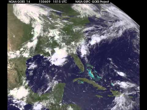 GOES-14 Sees Remnants of Andrea