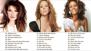 Mariah Carey, Celine Dion, Whitney Houston Greatest Hits playlist - Best Songs of World Divas NO ADS