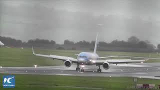 Pilot nails sideways landing in 40-knot crosswinds at Bristol Airport