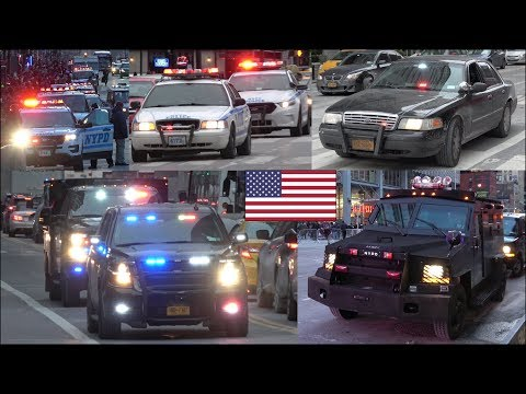 NYPD Police & law enforcement activity during New Year celebrations