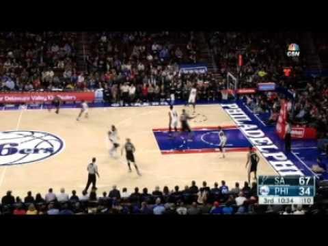 San Antonio Spurs vs Philadelphia 76ers - December 7, 2015 - NBA Basketball game-12/07/15