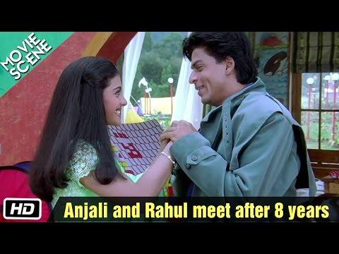 Anjali and Rahul meet after 8 years - Movie Scene - Kuch Kuch Hota Hai - Shahrukh Khan, Kajol