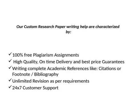 Custom Research Paper Writing Help | Casestudyhelp.com