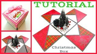 Explosion Box Card | How to make a Nativity Rocks! Christmas Paper crafts - Giulia's Art