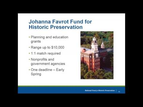 Show Me the Money: National Trust for Historic Preservation Grants