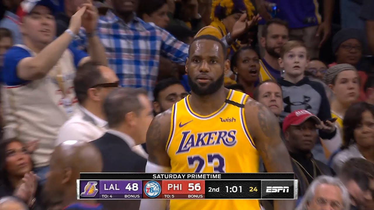 Los Angeles Lakers vs Philadelphia 76ers 1st Half Highlights | January 25, 2019-20 NBA Season