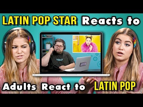 LATIN POP STAR REACTS TO ADULTS REACT TO LATIN POP Sofia Reyes
