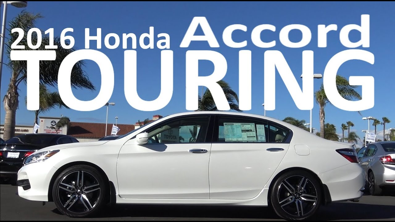 2016 honda accord touring v6 review youtube. Black Bedroom Furniture Sets. Home Design Ideas