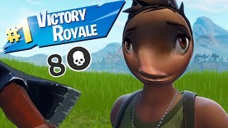 Fortnite - A mission behind the enemy lines as a default skin | 50v50 funny gameplay
