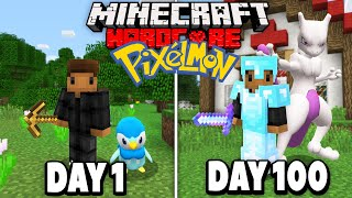 I Spent 100 Days in Minecraft Pixelmon.. Here's What Happened..