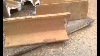 Łamanie szyny kolejowej bez główki - stopka Łamacz do szyn