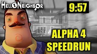 ALPHA 4 SPEEDRUN (9:57) | HELLO NEIGHBOUR ALPHA 4 UPDATE (Deutsch/German)