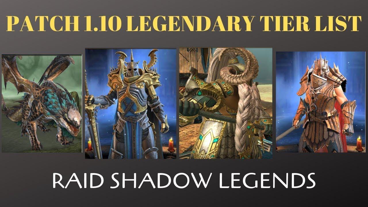 Patch 1 10 Legendary Tier List