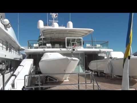 75m  Mega Yacht 'ENIGMA' in Port Hercule of Monaco!!!