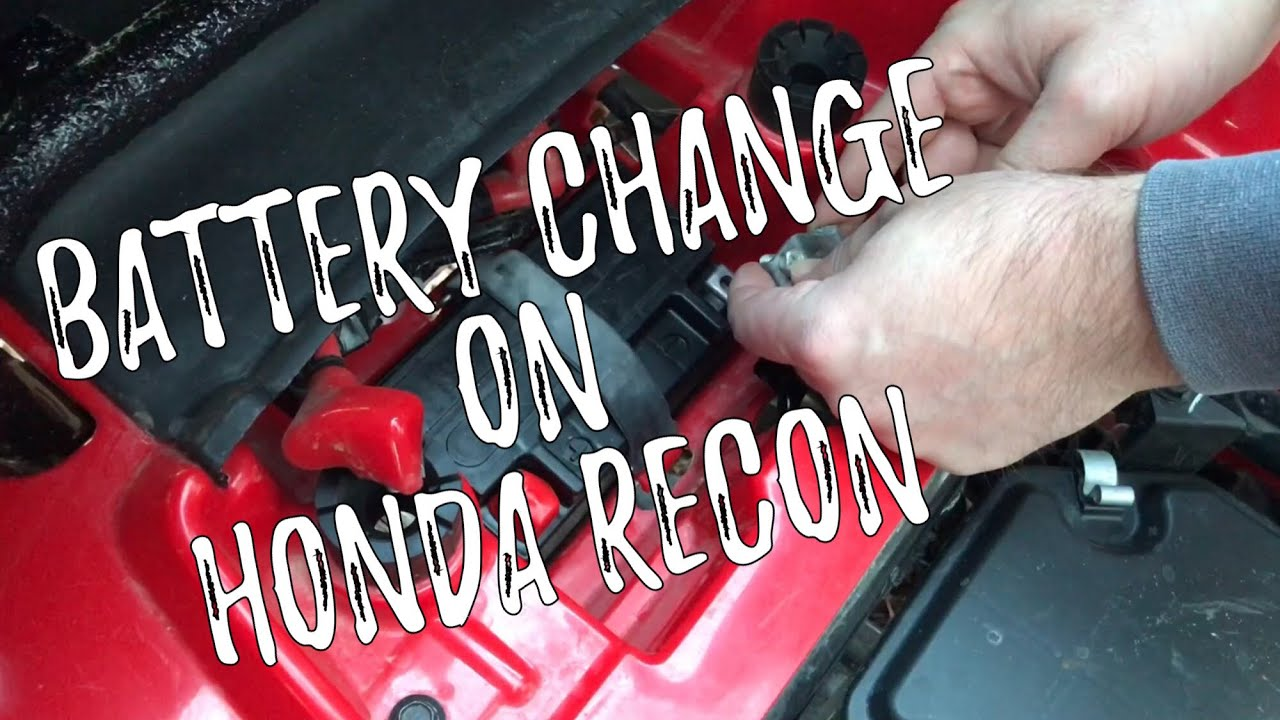 honda recon es: how to change the battery on atv
