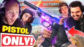 WINNING WITH *PISTOLS ONLY* WARZONE CHALLENGE!! Ft. Nickmercs, CouRageJD \u0026 Cloakzy