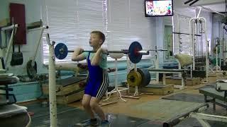 Бармин Иван, 9 лет, вк 38 Толчок о стоек 14 кг Новичок