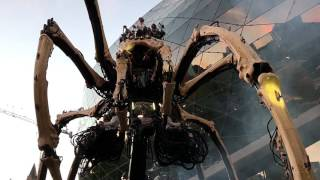 LA MACHINE OTTAWA. GIANT SPIDER&DRAGON ROAMS THE STREETS TOGETHER IN OTTAWA 2017 CANADA