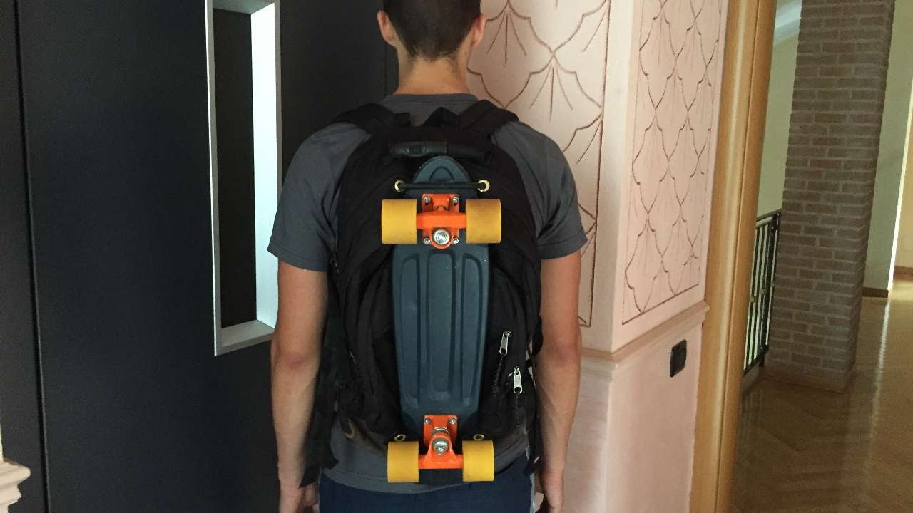 04ddb026e9a How To Make A DIY Pennyboard Backpack - DIY Tutorial - Guidecentral -  YouTube