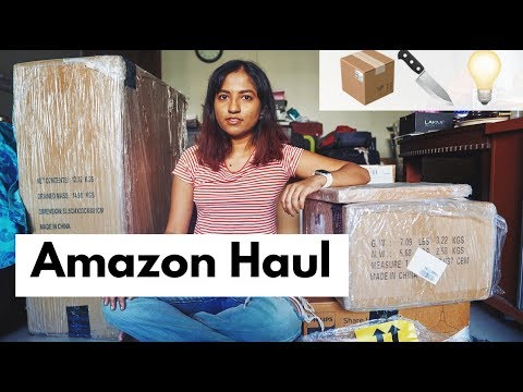 BIG Amazon India Home Haul | AmazonBasics Furniture, Luggage, etc. // #MagaliVlogs