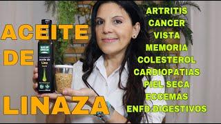 ACEITE DE LINAZA/LINO Gran fuente de OMEGA 3 con propiedades y beneficios increibles!