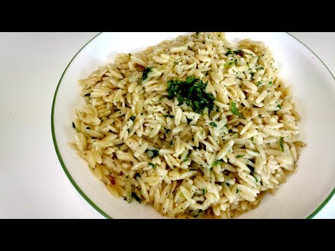How To Make Garlic Butter Orzo Pasta