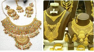 WOW !! Golden Jewelry Set Designs 2018 | New Jewelry Fashionable Collection For Marriage
