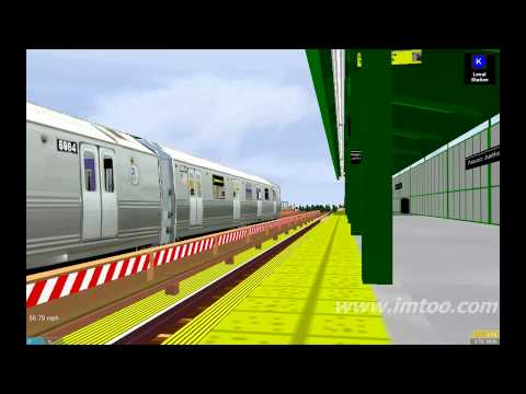 OpenBve Nycta:IND OCTAVIA BOOKER LINE`K` Train :Run By @ Passaic Juction on K line