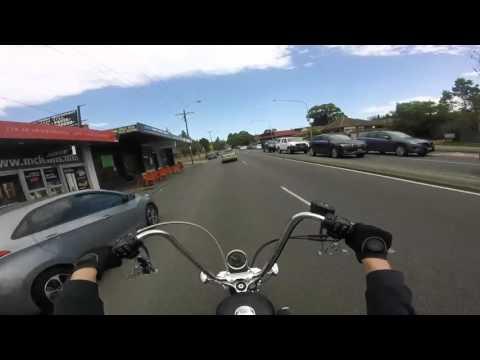 Ride on HD Seventytwo around Gosford NSW