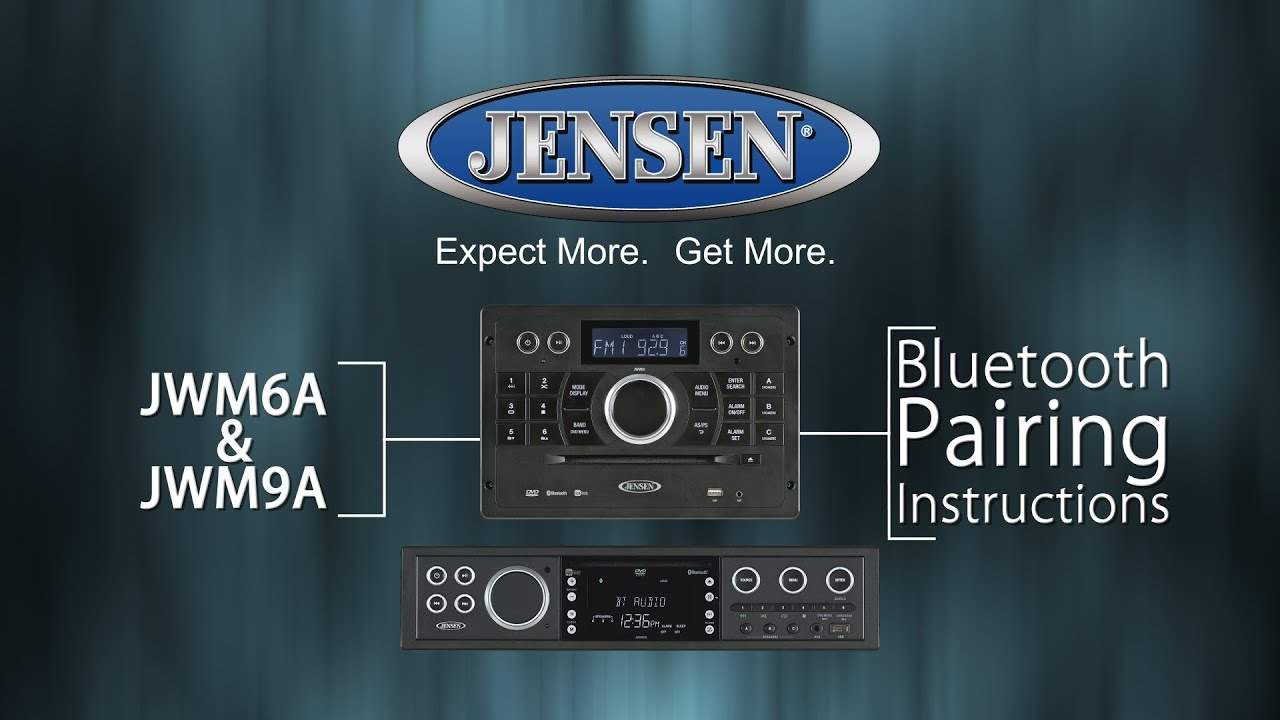 Jensen jwm6a and jwm9a bluetooth pairing youtube jensen jwm6a and jwm9a bluetooth pairing sciox Choice Image