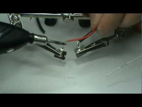 5 how to solder battery terminal piece using battery soldering iron youtube. Black Bedroom Furniture Sets. Home Design Ideas