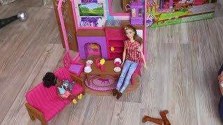 TOYZZ SHOP BARBİE ALIŞVERİŞİM ( Barbie Büyüleyici Kamp Seti Açıyoruz ) Bidünya Oyuncak