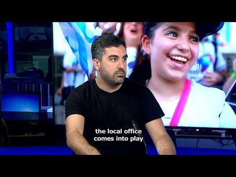 Ale Haber, Sheliaj De La Agencia Judía En La TV Israelí