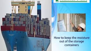 moisture absorbers for shipping containers