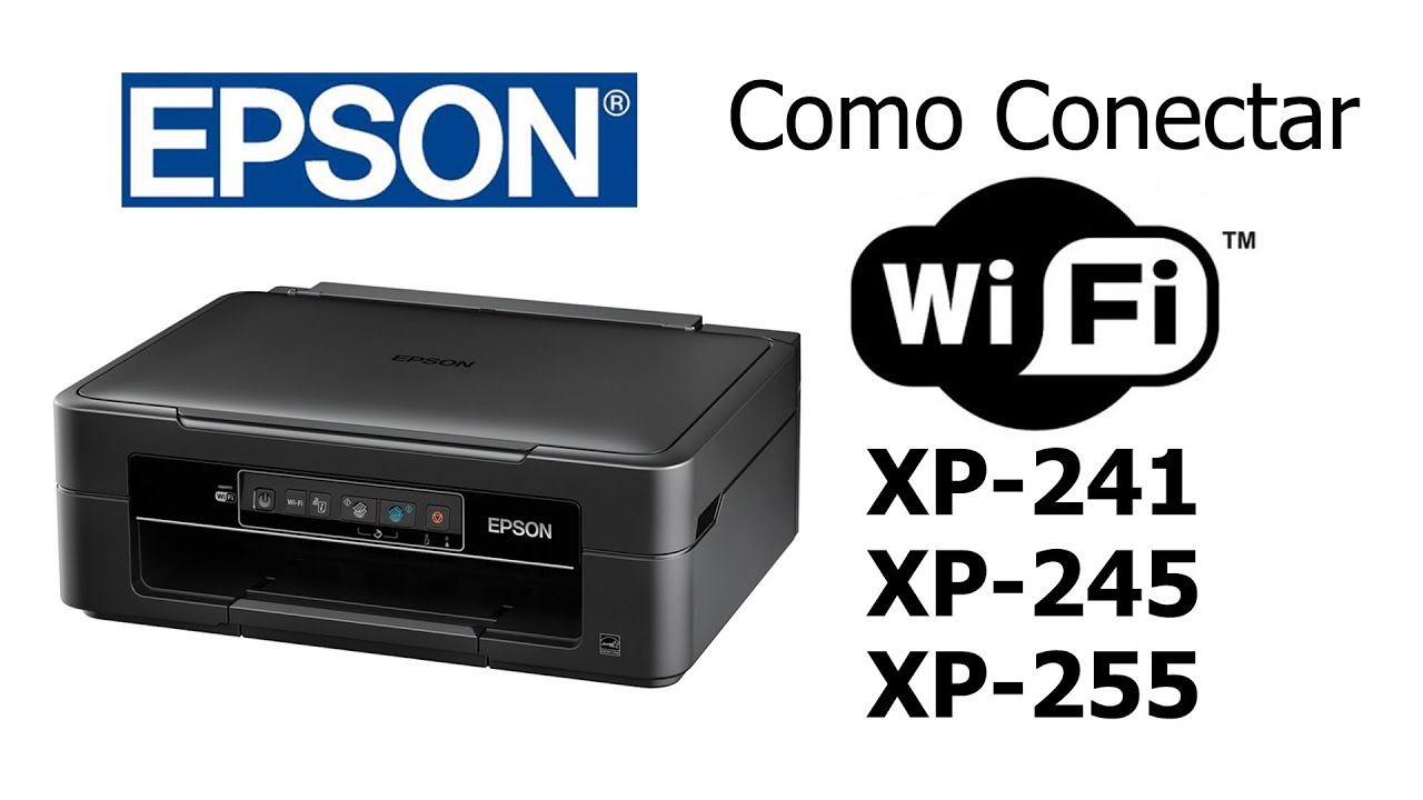 como conectar a multifuncional epson xp 241 xp 245 no wi fi youtube. Black Bedroom Furniture Sets. Home Design Ideas